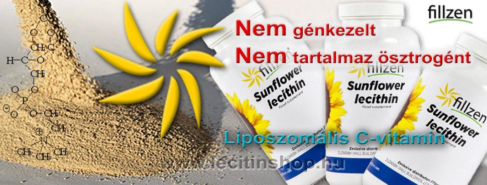 Napraforgó lecitin a tiszta lecitin, nem génkezelt és nem tartalmaz ösztrogént a liposzomális c-vitamin alapja